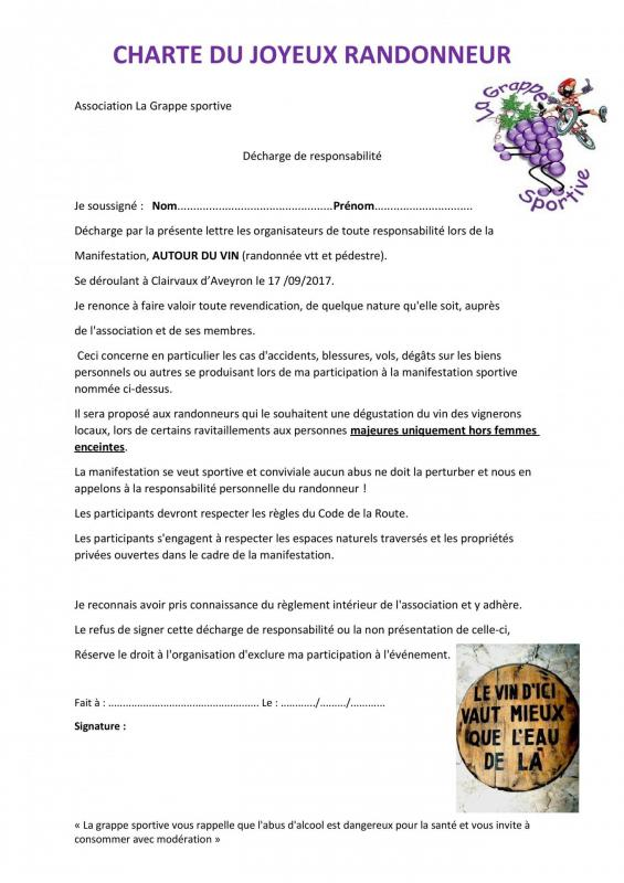 Charte association la grappe sportive
