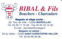 Bibal Bouchers et Charcutiers à Marcillac vallon Aveyron