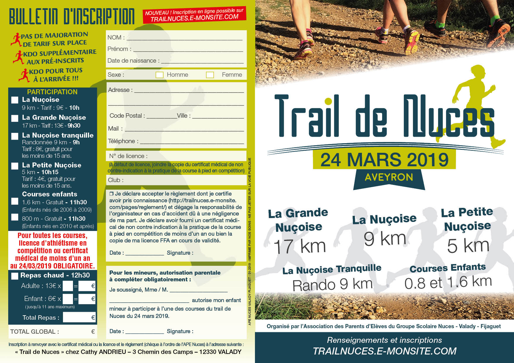 Trail flyer 2019